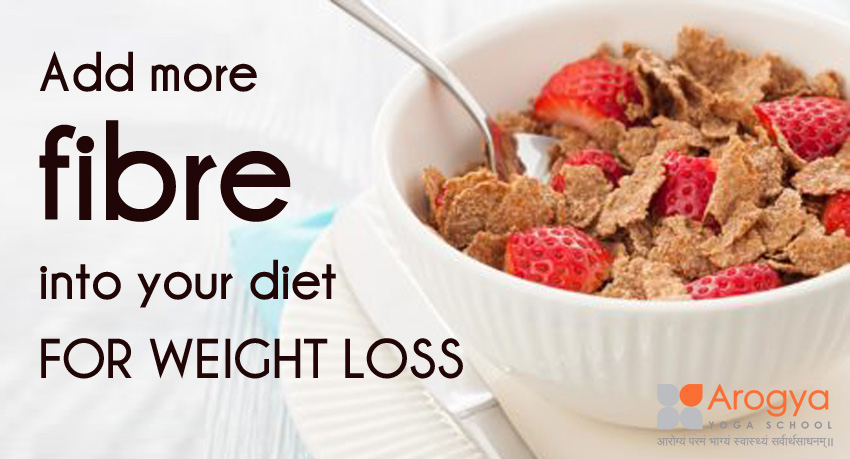 Add more fibre into your diet FOR WEIGHT LOSS