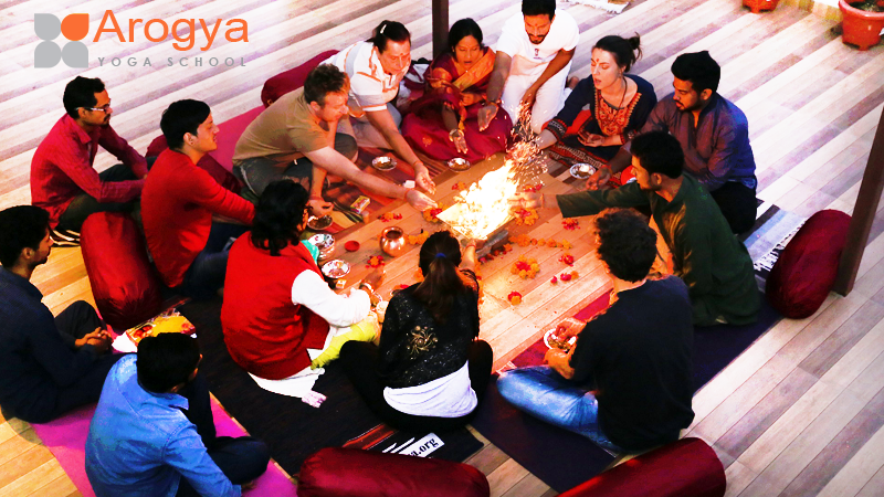 Yoga Course Orientation Ceremony and fire Purification Ceremony