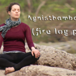 Agnisthambasana (fire log pose)